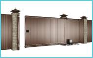 Комплект откатных ворот на нижней балке с приводом